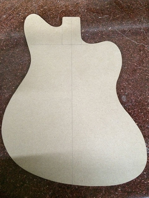 fender jazzmaster body template - jazzmaster danelectro hybrid 12 string build